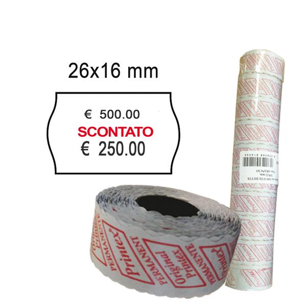 21x12 Scatola 50 Rotoli Etichette per Prezzatrice Bianco Permanente